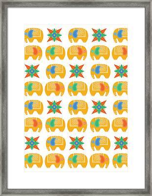 Elephant Print Framed Print