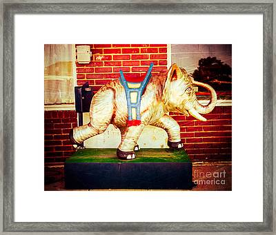 Elephant Ride Framed Print by Sonja Quintero