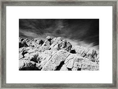 Elephant Rock Sandstone Rock Formation Valley Of Fire State Park Nevada Usa Framed Print