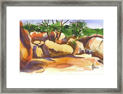 Elephant Rocks Revisited I Framed Print by Kip DeVore