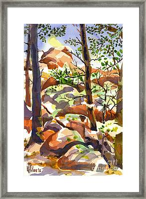 Elephant Rocks Revisited IIb Framed Print by Kip DeVore