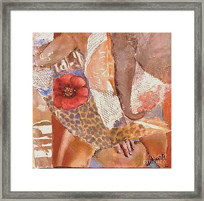 Elephant Walk Framed Print by Glory Wood