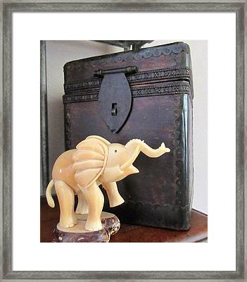 Elephant With Elephant Box Framed Print
