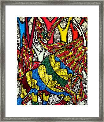 Elephant World Framed Print by Muktair Oladoja