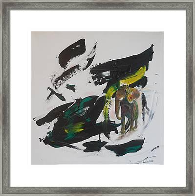 Elephantasy Framed Print by Toblerusse