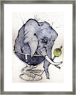 Elephantini Framed Print by Mark M  Mellon