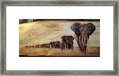 Elephants Are Contagious Framed Print