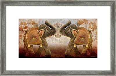 Elephants I Framed Print by April Moen