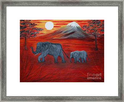 Elephants. Inspirations Collection. Framed Print
