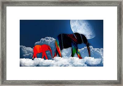 Elephants On Cloud 9 Framed Print
