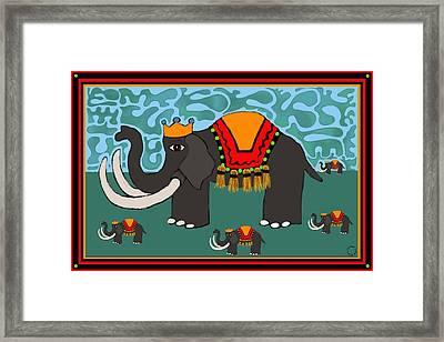 Elephants On Parade Framed Print