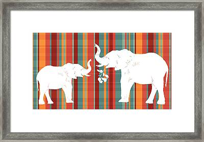 Elephants Share Framed Print by Alison Schmidt Carson