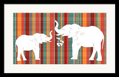 Plaid Framed Prints
