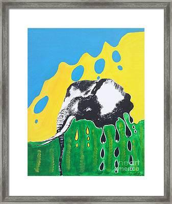 Elephants Tears Framed Print by Irenee Dusabe