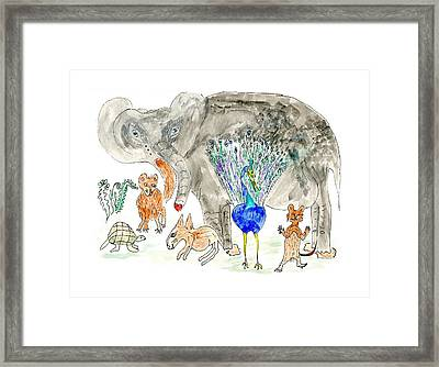 Elephoot And Friends Framed Print