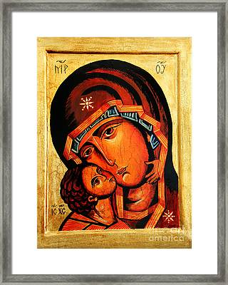 Eleusa Icon Framed Print by Ryszard Sleczka