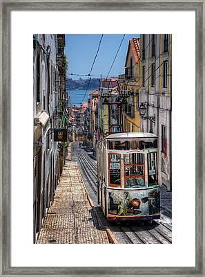Elevador Da Bica Lisbon Framed Print by Carol Japp