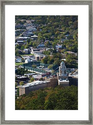 Elevated City View From Hot Springs Framed Print by Panoramic Images