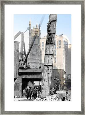 Elevated Construction Framed Print