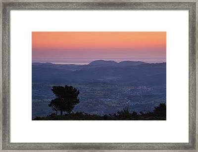 Elevated Landscape View From The Pena Framed Print