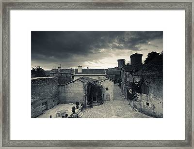 Elevated Town View From The Ramparts Framed Print by Panoramic Images