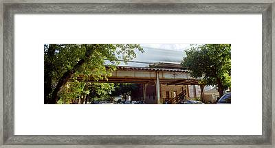 Elevated Train On A Bridge, Ravenswood Framed Print