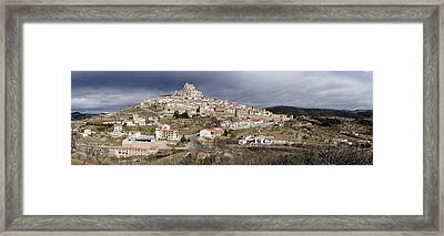 Elevated View Ancient City, Morella Framed Print by Panoramic Images