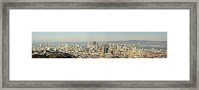 Elevated View Of A Cityscape, San Framed Print