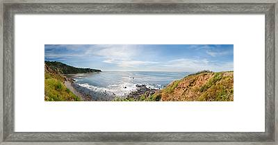 Elevated View Of A Coast, Palos Verdes Framed Print