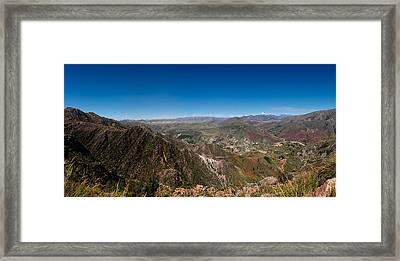 Elevated View Of A Valley, Inca Trail Framed Print by Panoramic Images