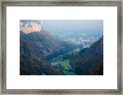 Elevated View Of A Village At Morning Framed Print by Panoramic Images