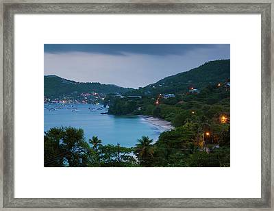 Elevated View Of Admiralty Bay, Port Framed Print