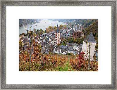 Elevated View Of Bacharach Framed Print