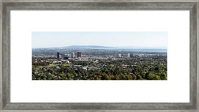 Elevated View Of Buildings, West Los Framed Print by Panoramic Images