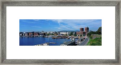 Elevated View Of City Framed Print by Panoramic Images