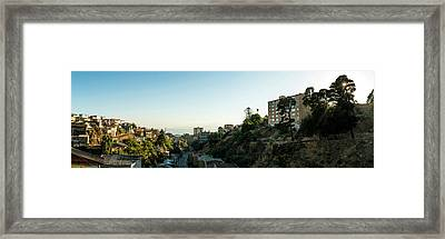 Elevated View Of Cityscape, Cerro Framed Print by Panoramic Images