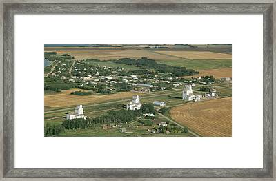 Elevated View Of Community Of Meola Framed Print