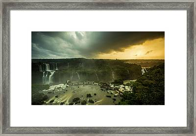 Elevated View Of Devils Throat Falls Framed Print by Panoramic Images