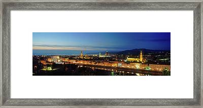 Elevated View Of Florence City Framed Print by Panoramic Images