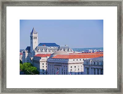 Elevated View Of Historic Old Post Framed Print