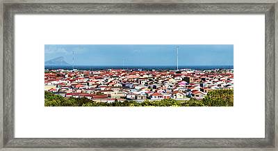 Elevated View Of Houses In A City, Cape Framed Print