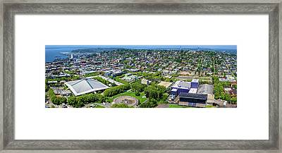 Elevated View Of Keyarena, Seattle Framed Print by Panoramic Images