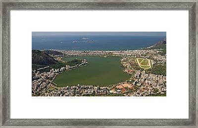Elevated View Of Lagoa Rodrigo De Framed Print by Panoramic Images