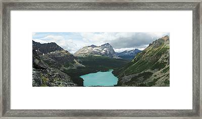 Elevated View Of Lake Ohara With Mount Framed Print by Panoramic Images