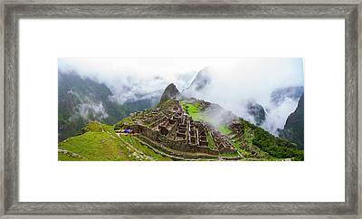 Elevated View Of Machu Picchu Framed Print by Panoramic Images