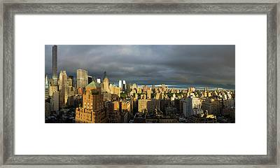 Elevated View Of Midtown Manhattan Framed Print