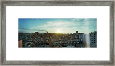 Elevated View Of Old Havana At Sunrise Framed Print by Panoramic Images
