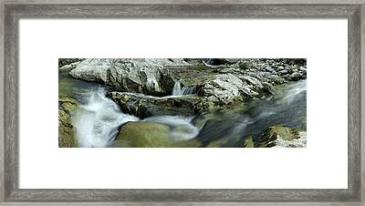 Elevated View Of River Passing Framed Print by Panoramic Images