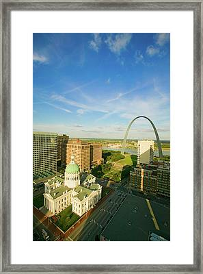 Elevated View Of Saint Louis Historical Framed Print