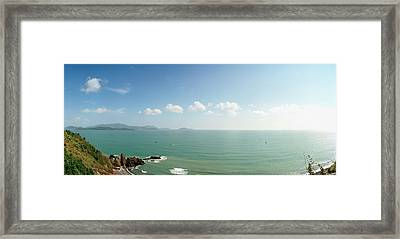 Elevated View Of Sea, Nha Trang, Khanh Framed Print